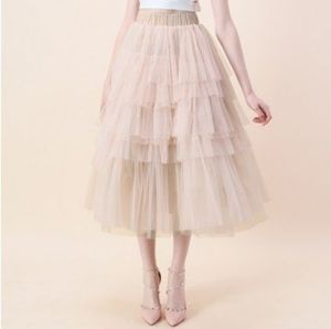 Nude Pink Tulle Skirt